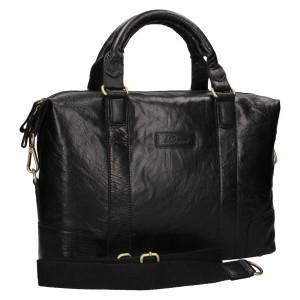 Pánská kožená taška na notebook Ashwood Ben - černá