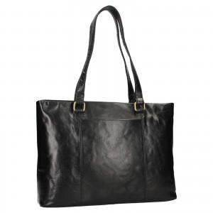 Dámská kožená kabelka Ashwood Lolita - černá