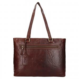 Dámská kožená kabelka Ashwood Lolita - tmavě hnědá