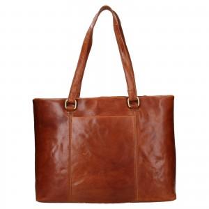 Dámská kožená kabelka Ashwood Lolita - koňak