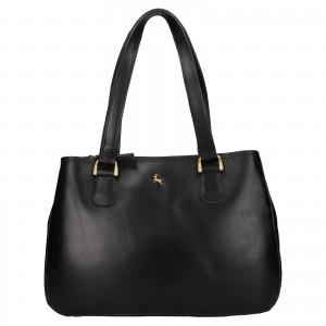 Dámská kožená kabelka Ashwood Lalita - černá