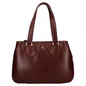 Dámská kožená kabelka Ashwood Lalita - tmavě hnědá