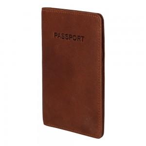 Obal na cestovní pas Burkely Avery - koňak