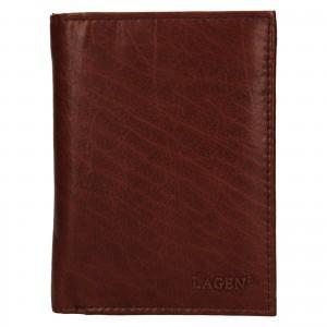 Pánská kožená peněženka Lagen Dion - koňak