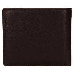 Pánská kožená peněženka Lagen Denton - hnědá