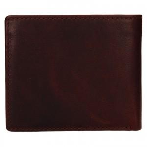 Pánská kožená peněženka Lagen Denton - koňak