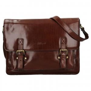 Pánská kožená taška přes rameno Ashwood Satls - koňak