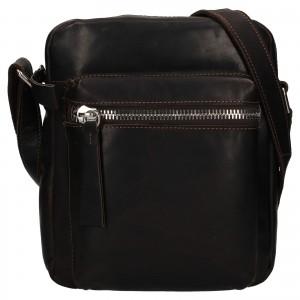 Pánská kožená taška přes rameno Ashwood Bertram - hnědá