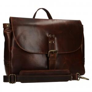 Pánská kožená taška přes rameno Ashwood Copper - tmavě hnědá