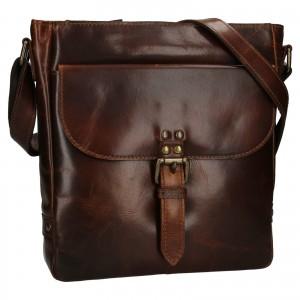 Pánská kožená taška přes rameno Ashwood Darcy - hnědá