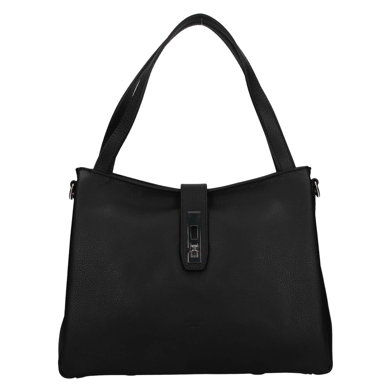 Elegantní dámská kožená kabelka Katana Cenia - černá