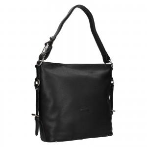 Elegantní dámská kožená kabelka Katana Nantes - černá