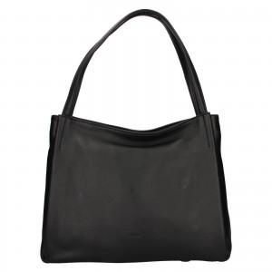 Elegantní dámská kožená kabelka Katana Alvana - černá