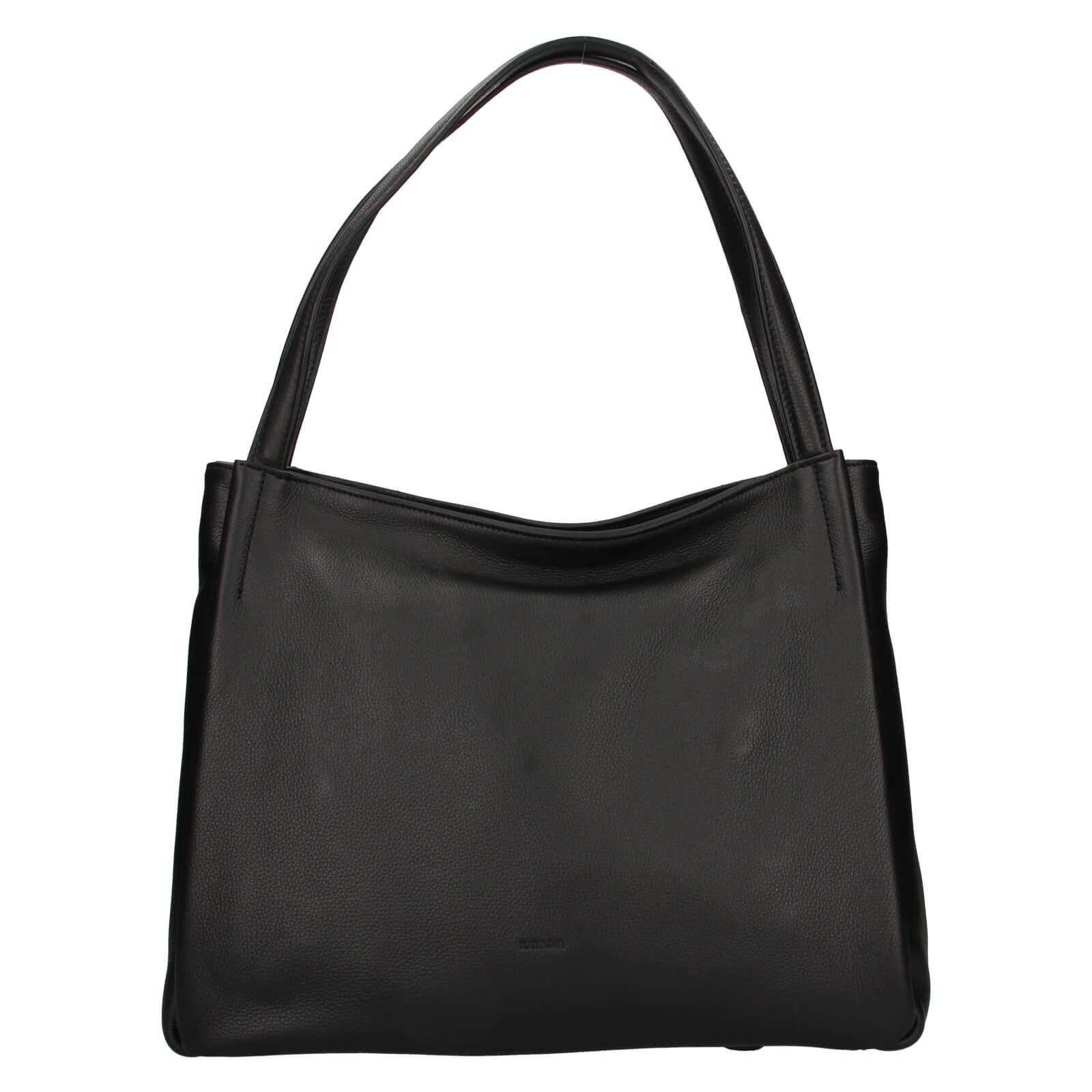 Elegantní dámská kožená kabelka Katana - černá