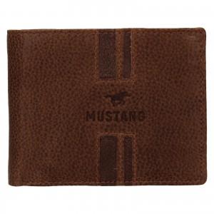 Pánská kožená peněženka Mustang Loyd - koňak