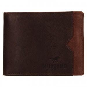 Pánská kožená peněženka Mustang Gart - hnědá