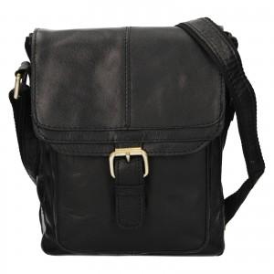Pánská kožená taška přes rameno Ashwood Lincoln - černá