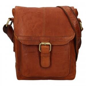Pánská kožená taška přes rameno Ashwood Lincoln - koňak