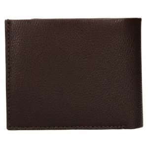 Pánská kožená peněženka Calvin Klein Seba - hnědá