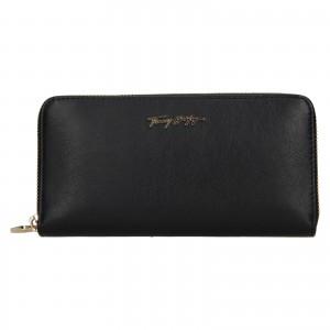 Dámská kožená peněženka Tommy Hilfiger Kneata - tmavě modrá