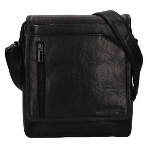 Pánská kožená taška přes rameno SendiDesign Ladis - černá