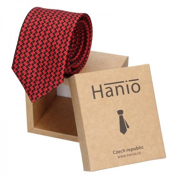 Pánská kravata Hanio Vincent - červená