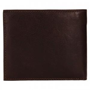 Pánská kožená peněženka SendiDesign Bredly - tmavě hnědá