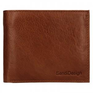 Pánská kožená peněženka SendiDesign Bredly - koňak