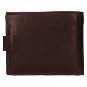 Pánská kožená peněženka SendiDesign Dowsn - tmavě hnědá