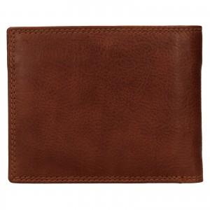 Pánská kožená peněženka SendiDesign Lopezz - koňak