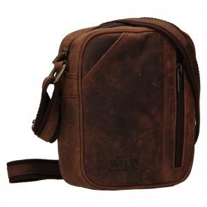 Pánská taška přes rameno Always Wild Merro - tmavě hnědá