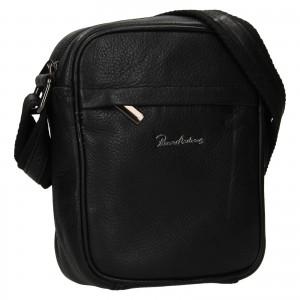 Pánská kožená taška Pierre Andreus Lipo - černá