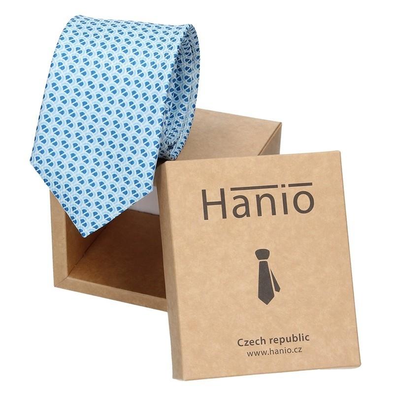 Pánská kravata Hanio Broby - modrá