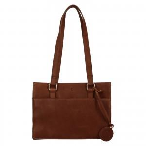 Menší dámská kožená kabelka Ashwood Compact - hnědá