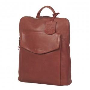 Dámský kožený batoh Burkely Fiona - vínová