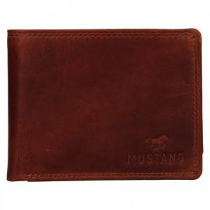Pánská kožená peněženka Mustang Filip - koňak