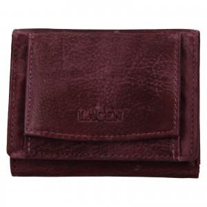 Dámská kožená slim peněženka Lagen Déborah - fialová