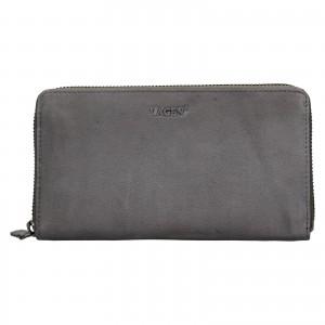 Dámská kožená peněženka Lagen Libertad - šedá