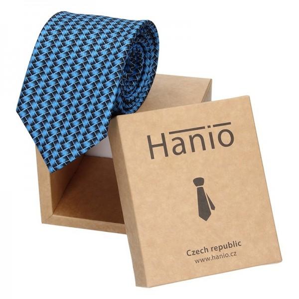 Pánská kravata Hanio Vincent - tmavě modrá