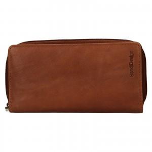 Dámská kožená peněženka SendiDesign Rosana - koňak