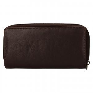 Dámská kožená peněženka SendiDesign Rosana - hnědá