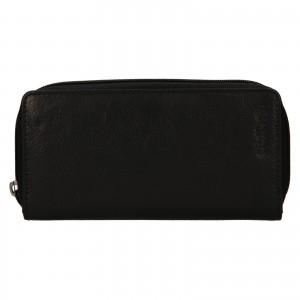 Dámská kožená peněženka SendiDesign Rosana - černá