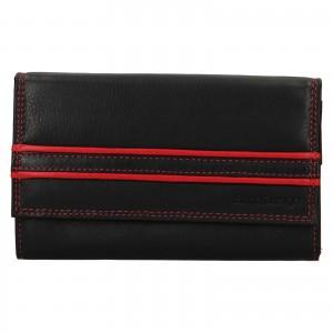 Dámská kožená peněženka SendiDesign Solena - černo-červená