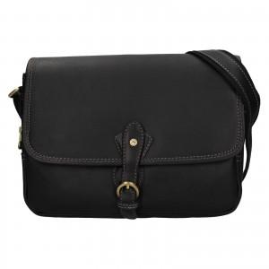 Kožená dámská crosbody kabelka Katana Greasy - černá