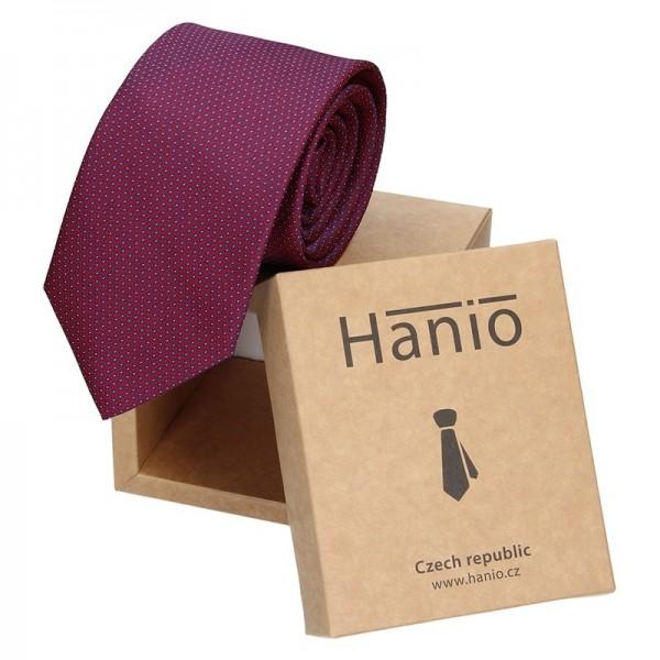 Pánská kravata Hanio Ernest - vínová