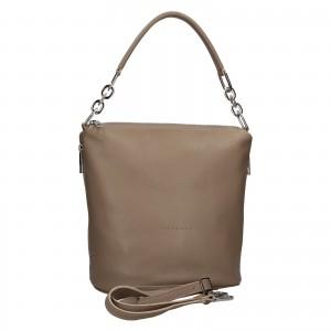 Dámská kožená kabelka Facebag Talma - taupe