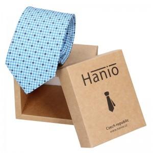 Pánská hedvábná kravata Hanio Adam - modrá