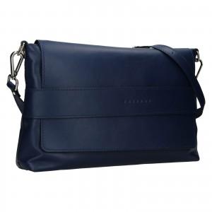 Dámská kožená kabelka Facebag Fabia - tmavě modrá