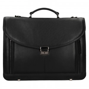 Luxusní pánská kožená aktovka Facebag Sartora - černá