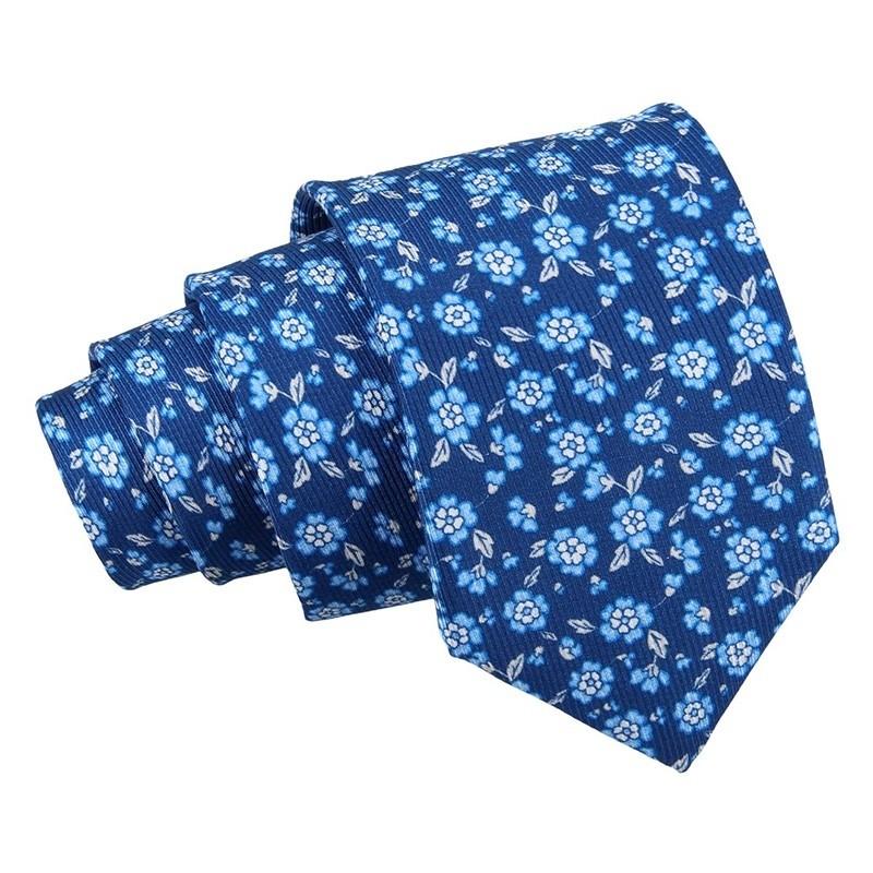 Pánská hedvábná kravata Hanio Ivan - modrá